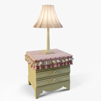 3ds max nightstand table lamp