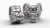 maya skull rings