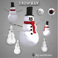 snowman poser obj