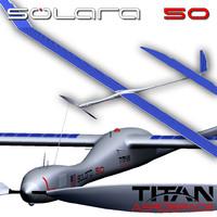 3d model of solara 50 aerospace