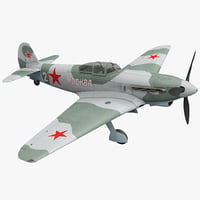 3d yakovlev yak-9 soviet world war model