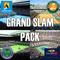 3d model pack grand slam tennis