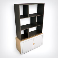 hd bookcase 3d model