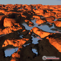 3d landscape cliffs model