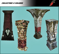 set column dungeon 3d model