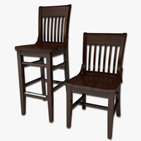 maya wood dining chair stool