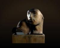 3d ma bronze face statue