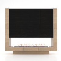 modern fireplace obj