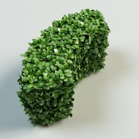 3d arc hedge bushes model