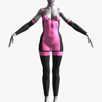 3d model outfit female clothing