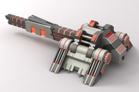 Sci-Fi Laser Cannon Red