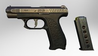3d gsh-18 pistol model