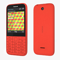 3ds max nokia 225 - red