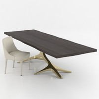 3d modern dinning table chair