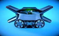 3d car drone model