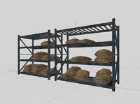 iron shelves 3d 3ds