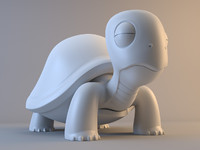 cartoon turtle 3d obj