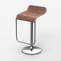 3d model of bar chair