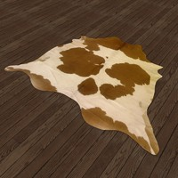 3d cow hide rug