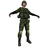 soldier obj