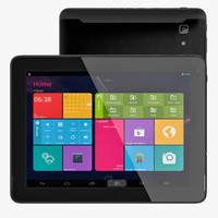 android black pc tablet 3d model