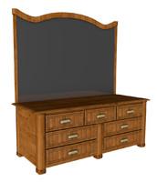 traditional dresser 3d c4d