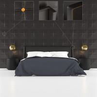modern bed obj