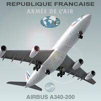 max airbus a340-200 republique francaise