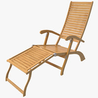 chaise lounge beach chair 3d c4d