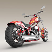 3d model big dog k9 chopper motorcycle