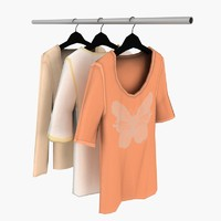 3d woman blouses model