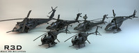 military helicopters transport blackhawk 3d model