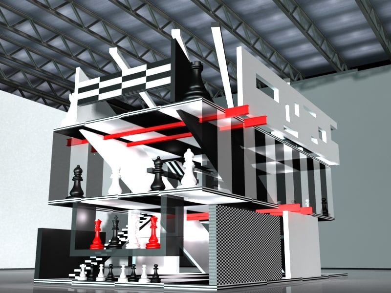 Exhibition Stand Revit : Ds max stand turn