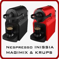 nespresso inissia magimix krups 3d max