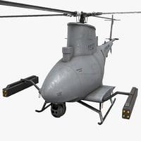 northrop grumman mq-8 scout 3d max