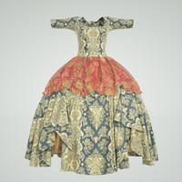 rococo dress 3d obj
