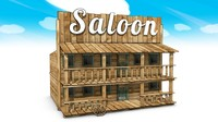 wild west saloon c4d