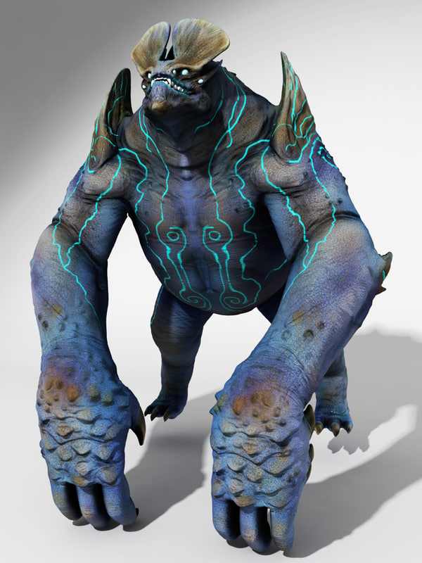 3d model monster pacific rim