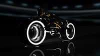 3d tron bike rider rigged model