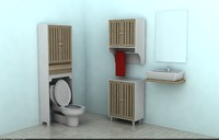 3d model designers bathroom cabinets