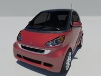 3d model smart fortwo 2012 w451