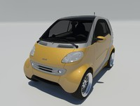 3d smart city coupe fortwo model
