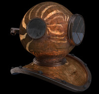 3d model of old helmet