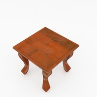 3d wooden stool wood model