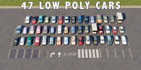 47 CARS LOW POLY