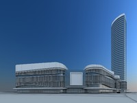 3d business center model