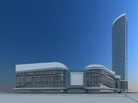 3d business center model
