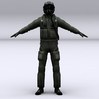 Modern Fighter Pilot character