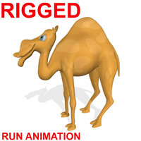 fbx cartoon camel run