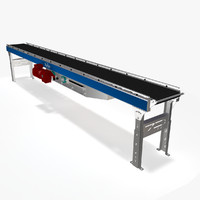 belt roller ac conveyor 3d model